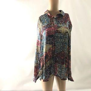 ASOS Women's Button Down Top Size M Long Sleeve